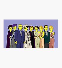 Downton Abbey - Cast of Nine Photographic Print