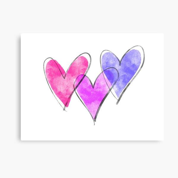 Triple hearts Metal Print