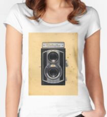 Weltaflex TLR Camera Women's Fitted Scoop T-Shirt