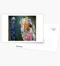 Gustav Klimt - Tod und Leben Postkarten