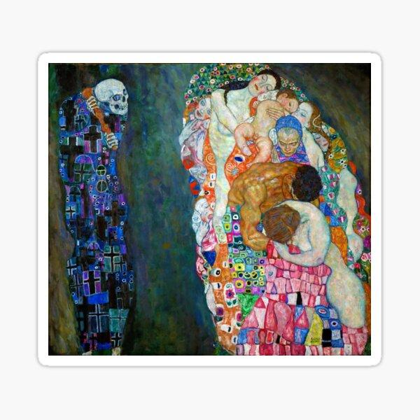 Gustav Klimt - La mort et la vie Sticker