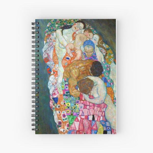 Gustav Klimt - Death and Life Spiral Notebook