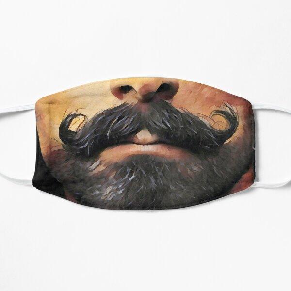 moustache face mask Flat Mask