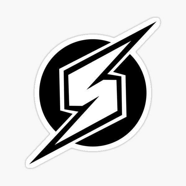Metroid Symbol - Super Smash Bros. (black) Sticker