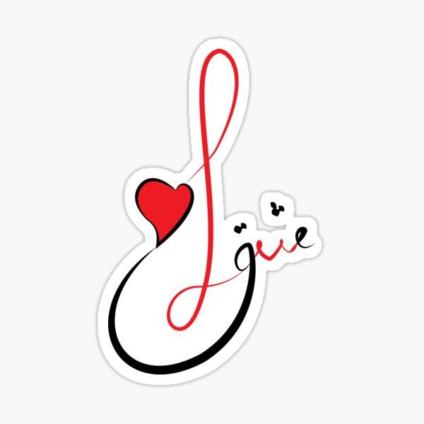 Love Typography Sticker