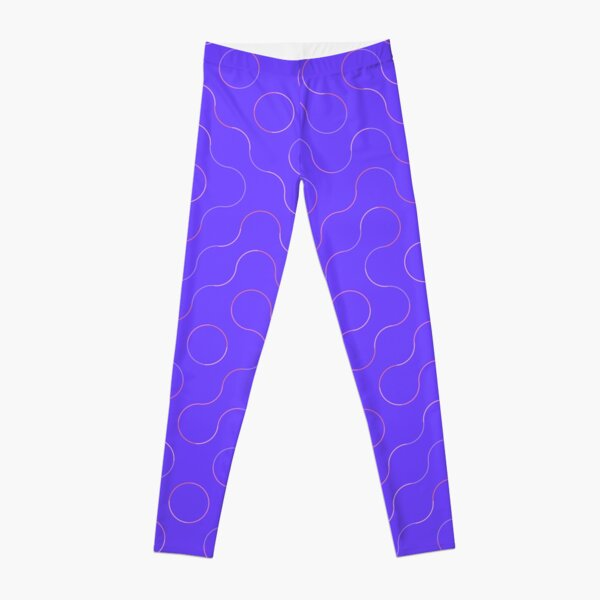 Excitedly Inoffensive Mercury (outlines on purple) Leggings