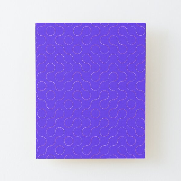 Excitedly Inoffensive Mercury (outlines on purple) Wood Mounted Print