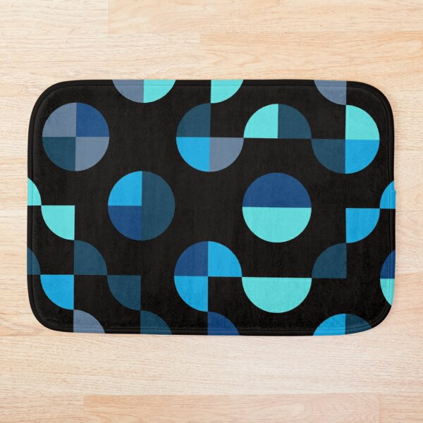 Excitedly Inoffensive Mercury (blues) Bath Mat