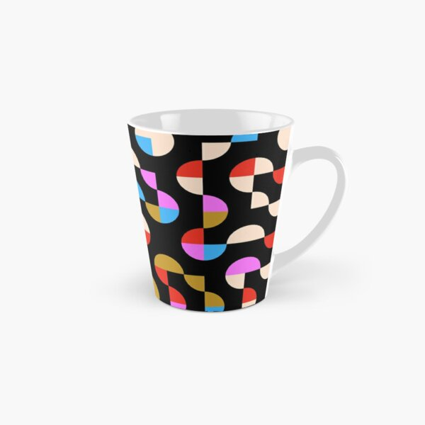 Excitedly Inoffensive Mercury (red, tan, pinks and blues) Tall Mug