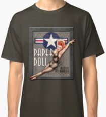 """""""Paper Doll"""" WWII Nose Art Classic T-Shirt"""