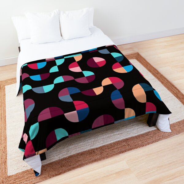 Excitedly Inoffensive Mercury (reds, blues and yellows) Comforter