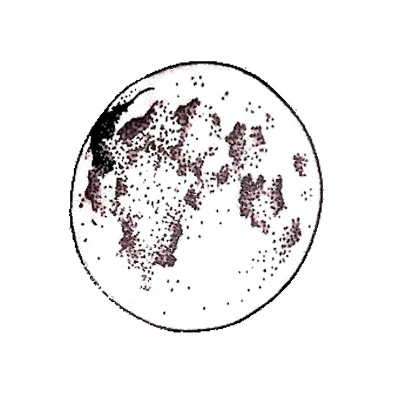 simple moon outline - Simple Outline Pictures
