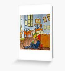 Art Giraffe- Bedroom at Arles Greeting Card