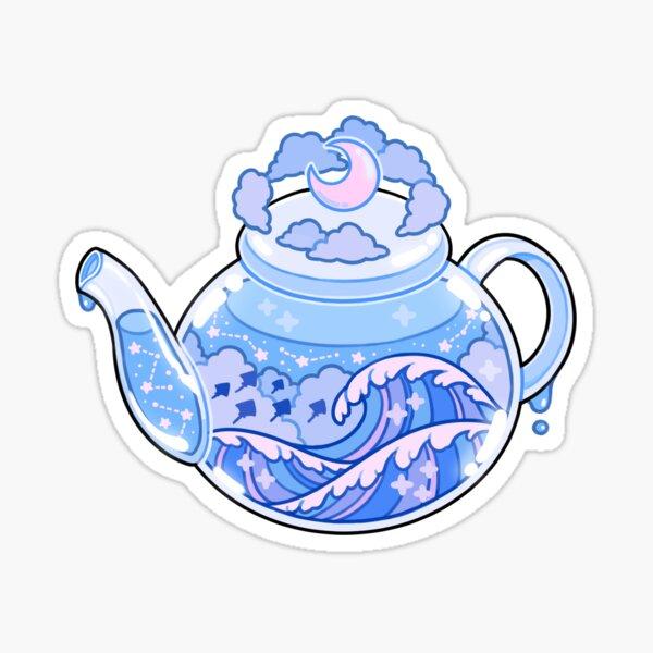 ocean teapot Sticker