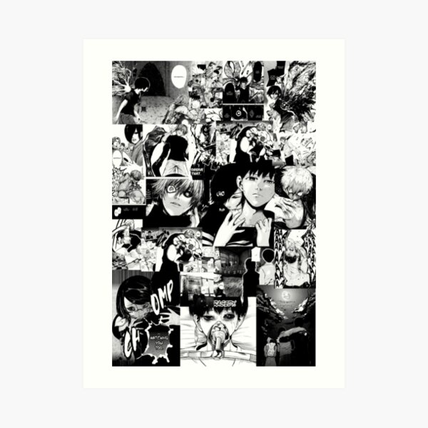 Collage de Manga de Tokyo Ghoul Lámina artística