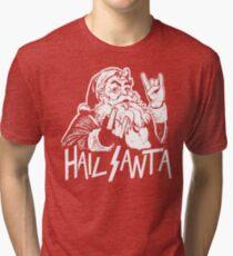 Hail Santa Tri-blend T-Shirt