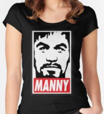Obey Manny Pacquiao by AiReal Apparel Women's Fitted Scoop T-Shirt