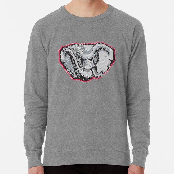 Distressed University of Alabama Crimson Tide Elephant Logo Lightweight Sweatshirt