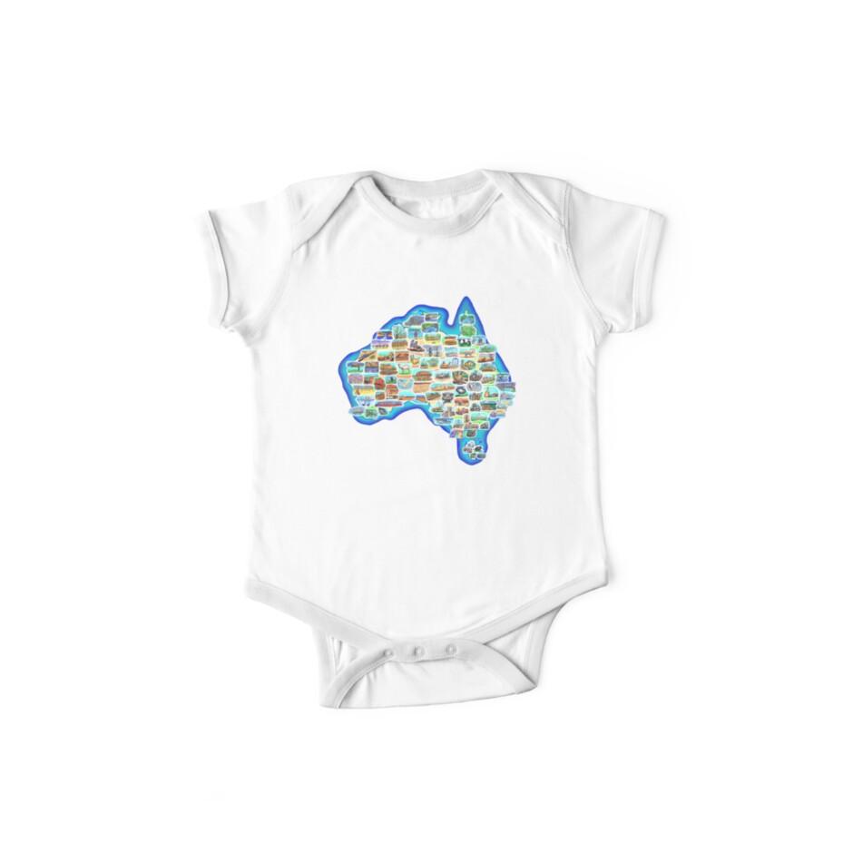 Pictorial Australia T-Shirt by David Fraser