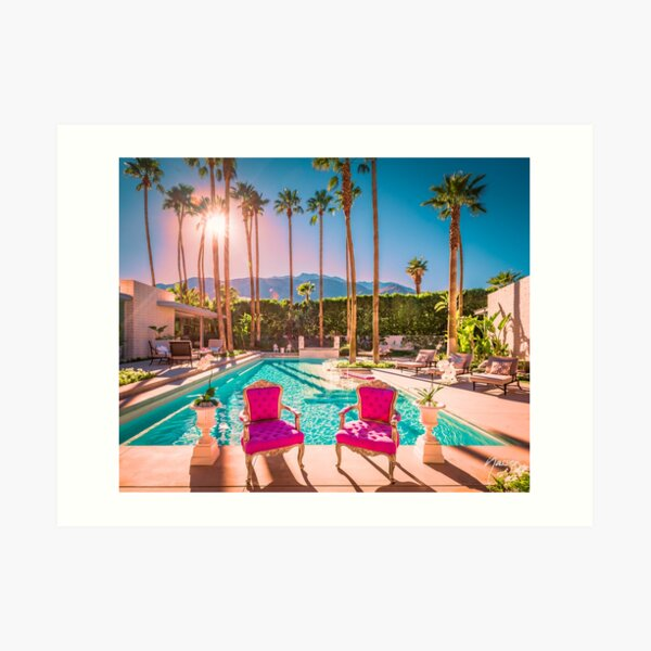 Affluent Opulent Luxe Style 2381 Mid-Century Modern Palm Springs Architecture Art Print