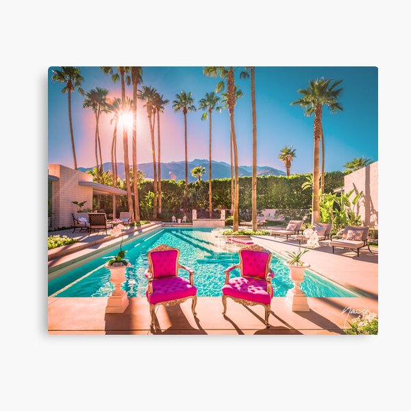 Affluent Opulent Luxe Style 2381 Mid-Century Modern Palm Springs Architecture Metal Print