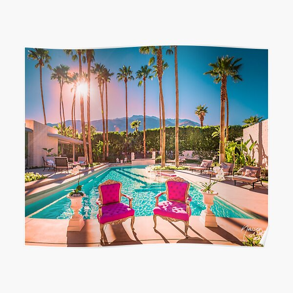 Affluent Opulent Luxe Style 2381 Mid-Century Modern Palm Springs Architecture Poster