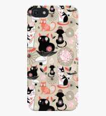 Floral pattern with cats iPhone SE/5s/5 Case