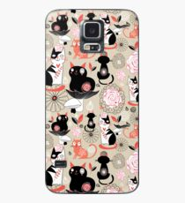 Floral pattern with cats Case/Skin for Samsung Galaxy