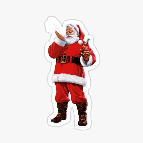 Santa Claus Coke Sticker