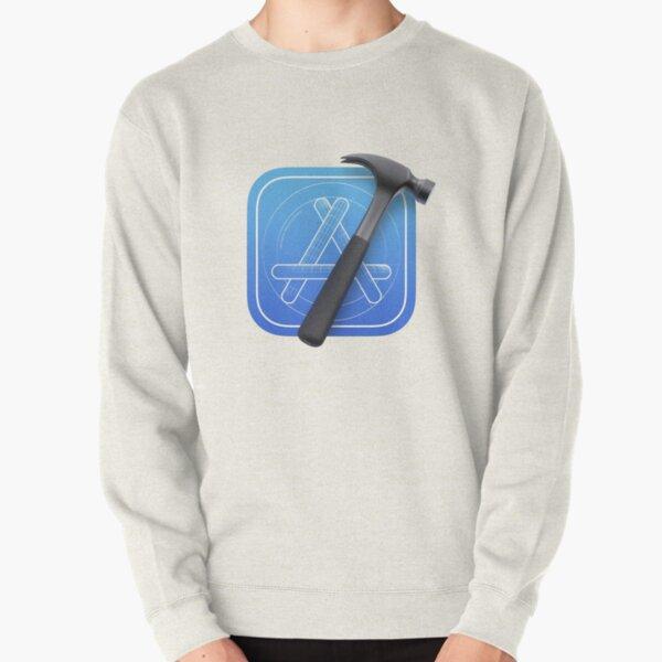 Xcode Apple Logo Sticker Pullover Sweatshirt