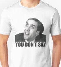 Nicolas Cage Meme Slim Fit T-Shirt