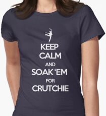 Soak 'Em for Crutchie!  Women's Fitted T-Shirt