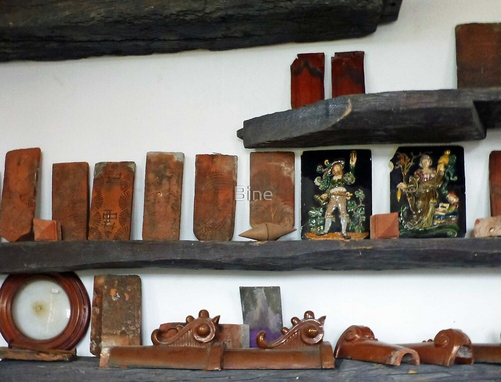 Collection of Historic Tiles and Roof Tiles by Bine