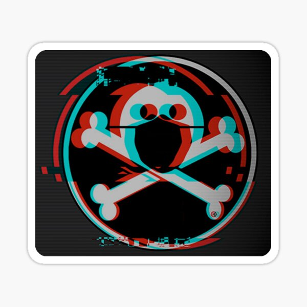 Defcon Jolly Roger with Mask - Defcon is Cancelled Sticker