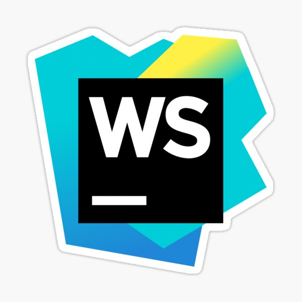 "WebStorm Logo "" Sticker by SuperJellyfish | Redbubble"