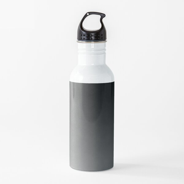 Ombre | Gradient Colors | Dark Grey Ombre | Charcoal Grey Ombre | Water Bottle