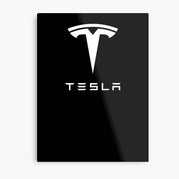 Tesla Logo Wallpaper White