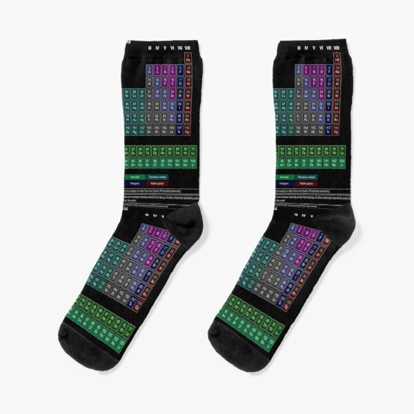#Periodic #Table of #Elements #PeriodicTableofElements Socks