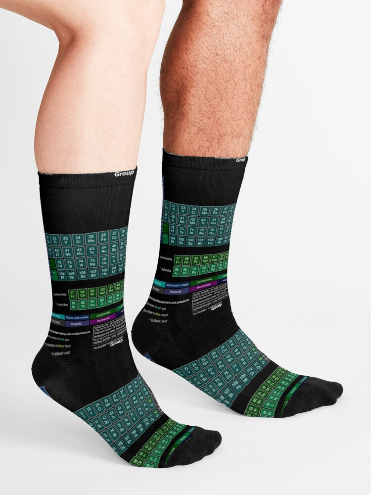 Alternate view of #Periodic #Table of #Elements #PeriodicTableofElements Socks