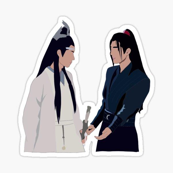 The Untamed: Wei Wu Xian y Jiang Chen Pegatina
