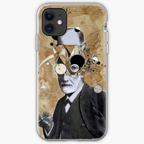 Freud with abstracted concepts iPhone Soft Case
