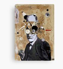 Freud mit abstrakten Konzepten Leinwanddruck