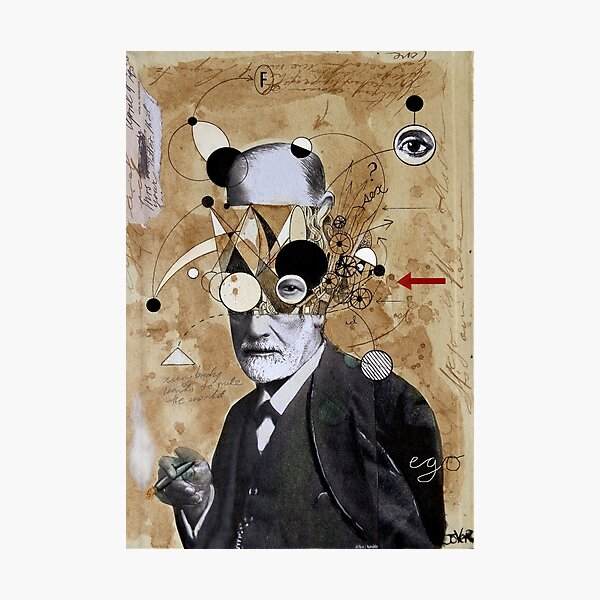 Freud with abstracted concepts Photographic Print
