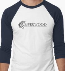 Shagging People, Hunting Things Tee - Black Logo Men's Baseball ¾ T-Shirt