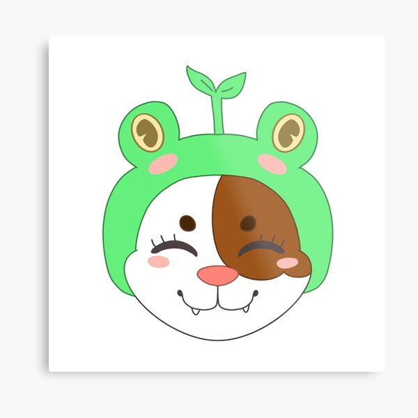 Kitty with frog hat :)  Metal Print