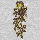yellow rose tattoo art by resonanteye
