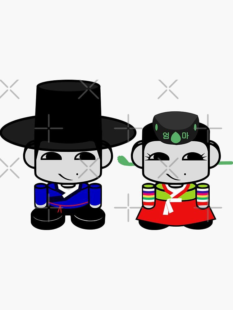 Appa & Umma Korean Geo'bot 1.0 by carbonfibreme