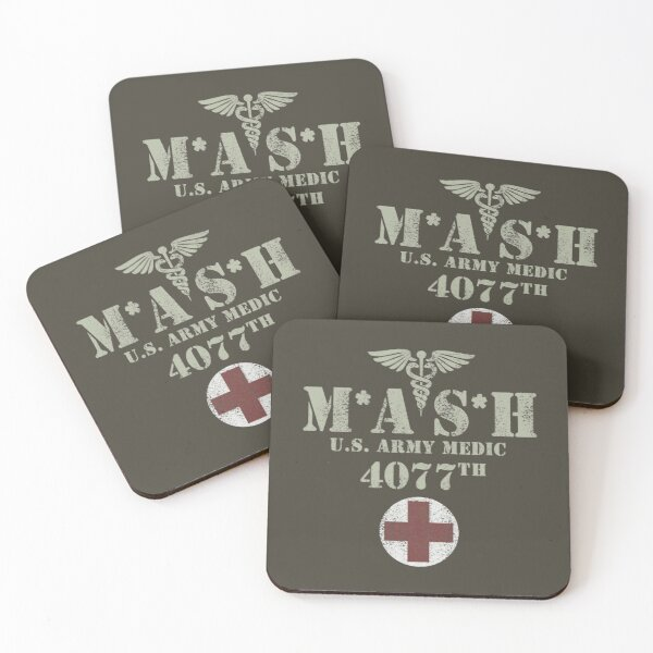 MASH (distressed design) Coasters (Set of 4)