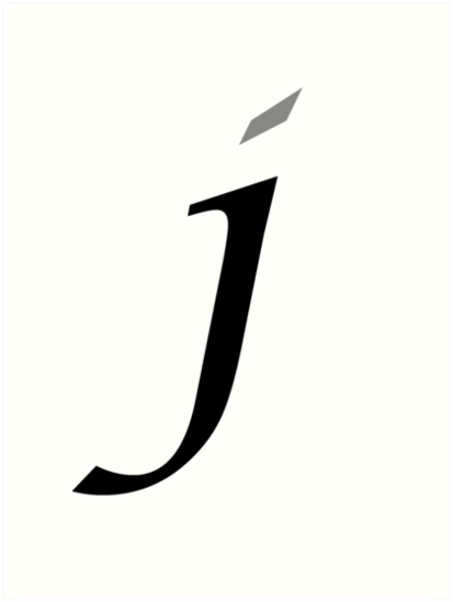 Calligraphy Letter J By Richard Heby