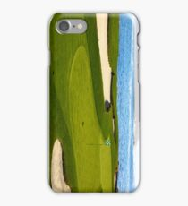 Golf green by the ocean iPhone Case/Skin